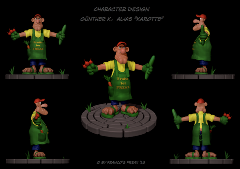 Character Design Karotte by FrancosFreax