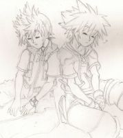 roxas and sora by zen1990