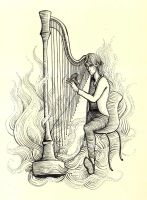 Harpist by twistedstairs