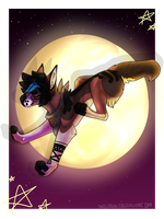Over The Moon, Over The Midnight Moon by skelebun