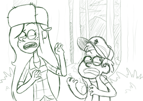 Gravity Falls WIP by nasakii