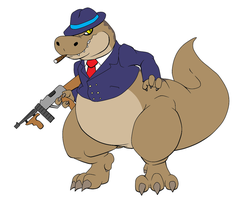 T-rex gangster by Reagan700