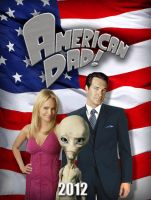 American dad FILM POSTER by Umbridge1986
