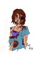 Zombie Anime me by SaintRiddle