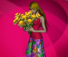 Hitary with flowers by Bigjim3D