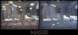 A masjid in 3D by Dday007