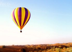 Hot Air Balloon over Desert by bigforrap