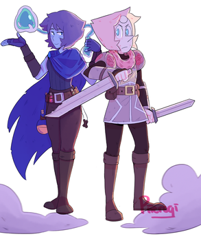 Pearlapis Knight And Witch by Piierogi