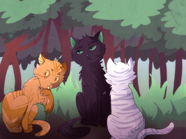 Lionpaw, Hollypaw and Jaypaw by saeru-bleuts