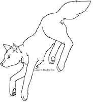 Free Wolf Lineart by blue-fox-trot