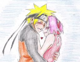 NaruSaku: Happy Hug by CherryStarwberry7
