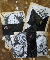 Ripple Sketches ATCs 1-3 by GillianIvy