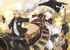 Cowboy and Pirate by Hetalia0Fans