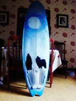 WOLF SURFBOARD by alicecorley