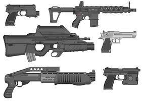 Anime Gun Pack by GrimReaper64