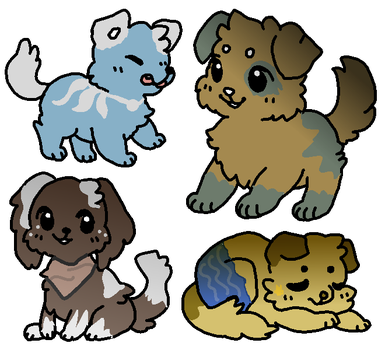 Auction Pups OPEN 3/4 by okisacat