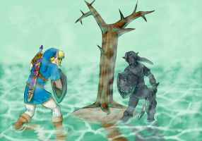 Link and Shadow Link by DelatoDarion