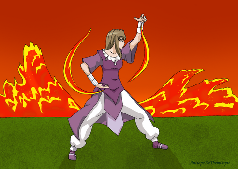 Shizuru lavabender with violet clothes by AntiopeDeThemiscyre