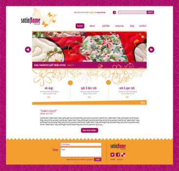 Candystitch personal web design by jeanine