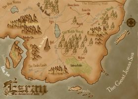 Map of Ezran by KirbBrimstone