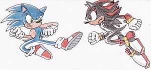 Sonic v Shadow Request by ChaosAngel5