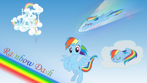 MLP:FiM Rainbow Dash wallpaper by Apoljak