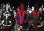 Spiderman Hoodies - Symbiote/Ultimate/Superior by prathik