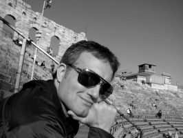 Me on black and white by srossetto
