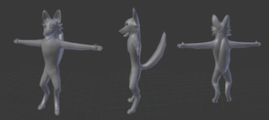 3D Furry WIP by MysteryCJGamer