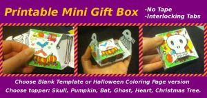 Sample of Mini Gift Box - printable template by plaidsandstripes