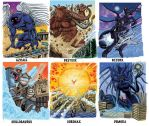 Colossal Kaiju Combat SPN 2 Trading Card Samples 1 by fbwash