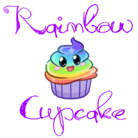Freakin' Rainbow Cupcake by Land-Of-Sin