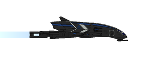 Mass Effect Rhone Class Corvette by Seeras