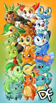Pokemon Starters by DanchuPichu