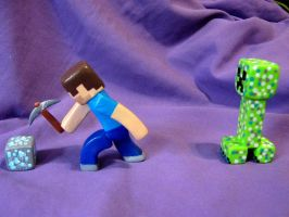 clay minecraft figures by GasMaskMonster