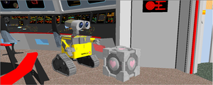 Wall-e meets companion cube by enterprisedavid