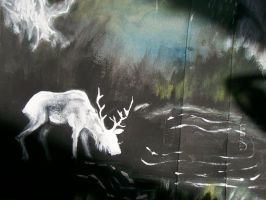 The White Forest Elk by KCJoker33