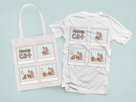The Pilates Cat - Totebag and T-shirt by PeterPan-Syndrome