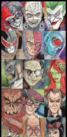 Batman Villian Sketchcards by KileyBeecher