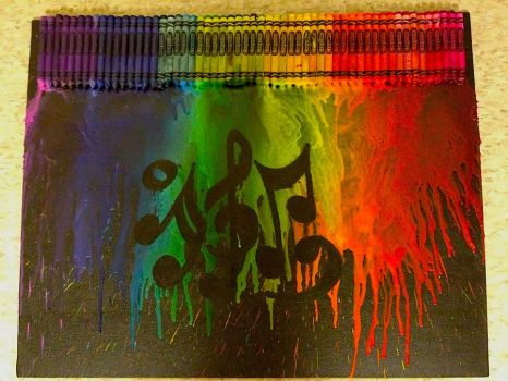 Melted Crayon Art - After by ArtemAmoris