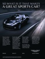 Aston Martin Print Ad 2 by krimzonDS