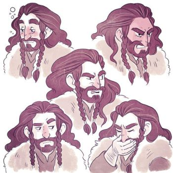 Thorin Expressions 5 by nerdeeart
