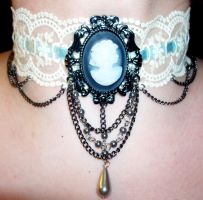 Gorgeous Cameo and Lace Ribbon Choker by LadyMidnight81