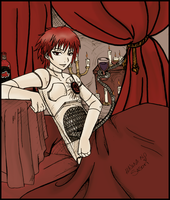 Romantic Sasori - Coloured by Reckless-X-Abandon