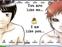 Lee + Gaara Desktop X3 by lucrecia