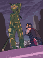 KICK-ASS: boys on the roof by Ricken-Art