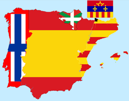 Flag map of Iberia and Aran by hosmich