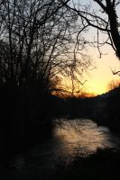 Sunset, River and Trees by L7CBastion