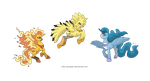 Ponikemon Trio of Kanto by MySweetQueen