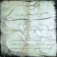 1700s French document by OldSoulArt